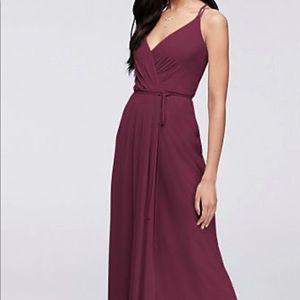 Wine / burgundy wrap bridesmaid dress size 6